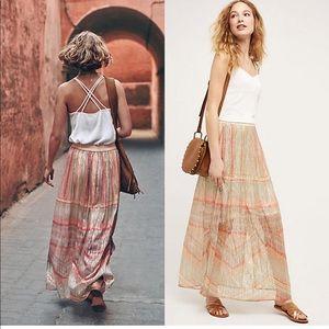 NWOT Anthropologie Blank Daybreak Maxi Skirt L